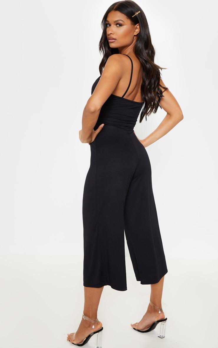 Black Tie Front Jumpsuit 2