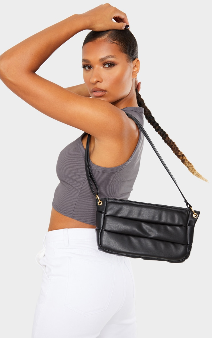 Black Padded Shoulder Bag 1