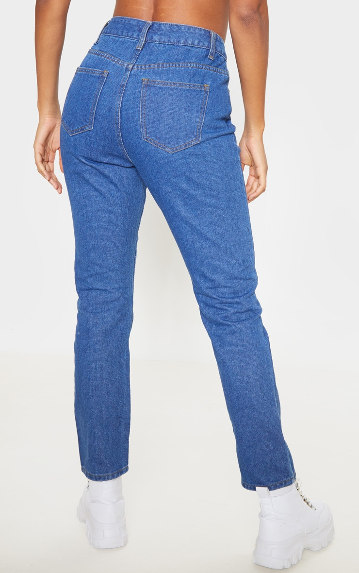 Mid Wash Basic Straight Leg Jean 4