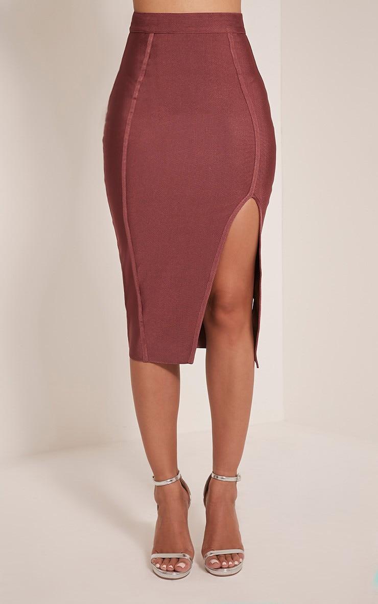 Caitlyn Premium jupe midi bandage rose 2