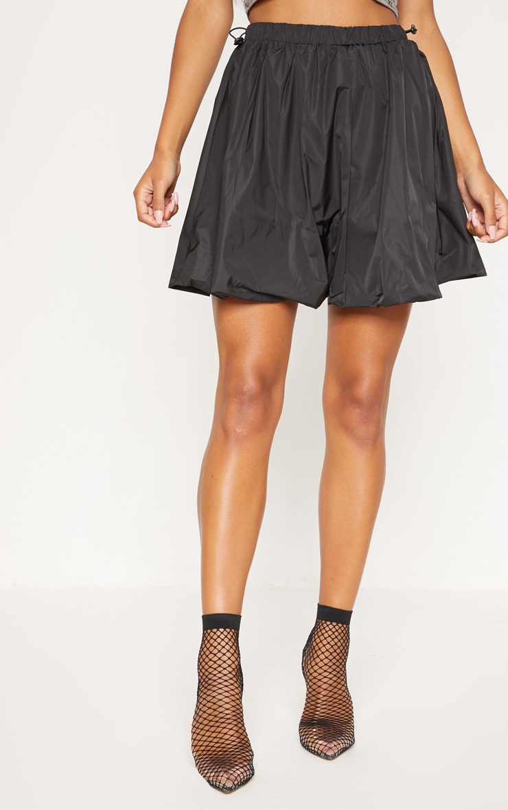 Black Shell Toggle Side Detail Mini Skirt 2