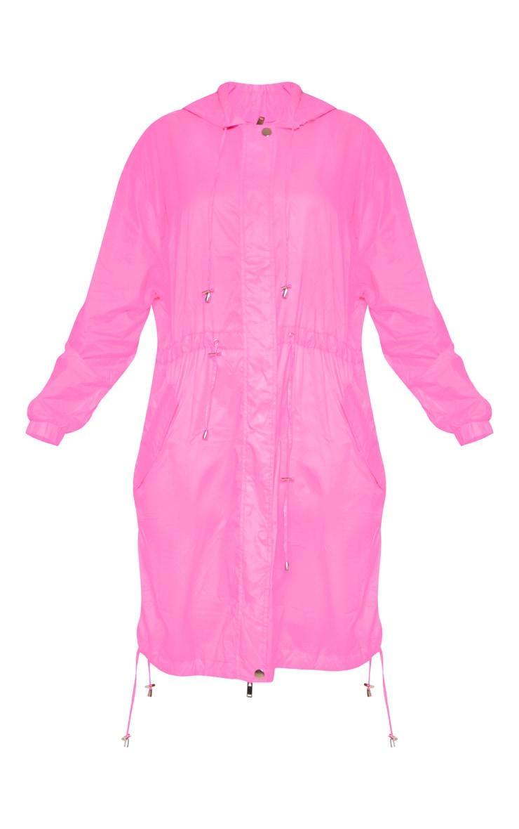 Pink Longline Rainmac 3