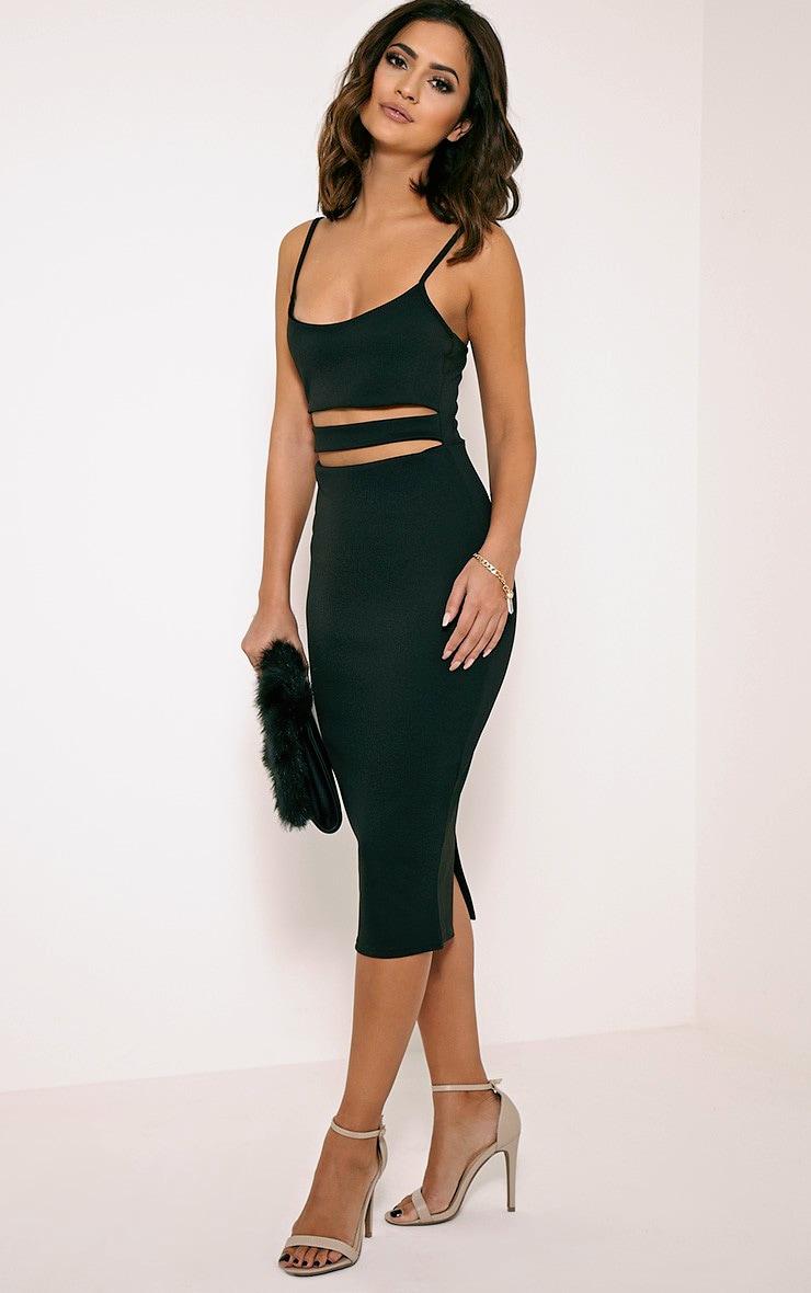Kheelie Black Cut Out Midi Dress 4