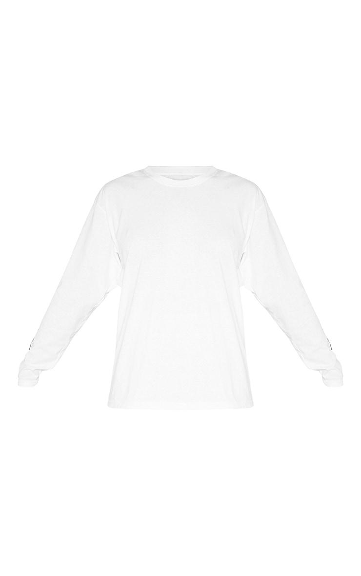 PRETTYLITTLETHING Tall - Top blanc manches longues à slogan 3