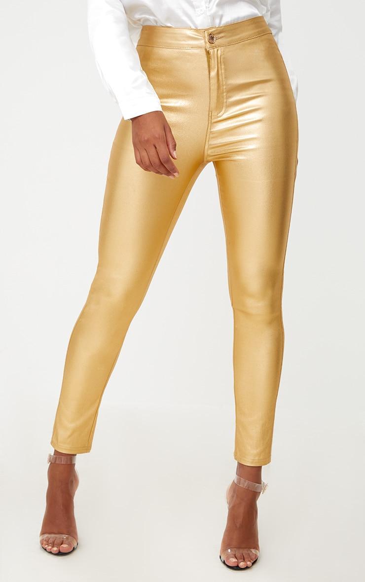 Gold Coated Disco Skinny Jean 2