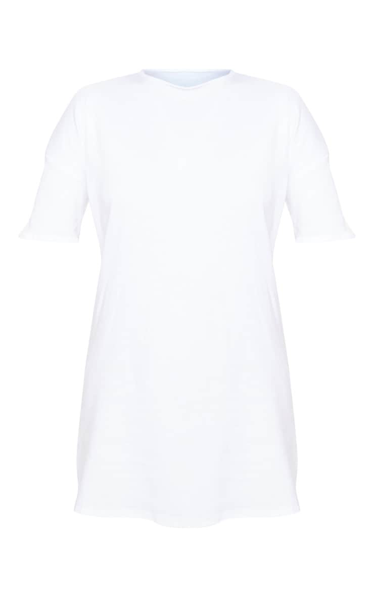 Petite White Oversized T Shirt Dress 3