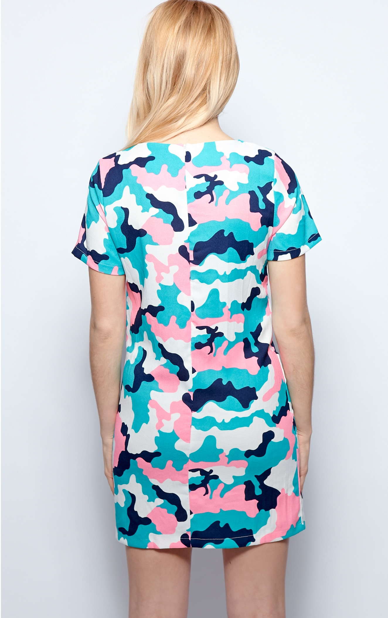 Candice Green Abstract Camo Print Shift Dress 2