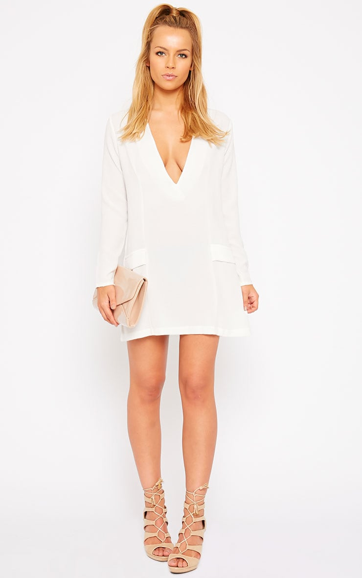 Jemima Cream Blazer Dress 3