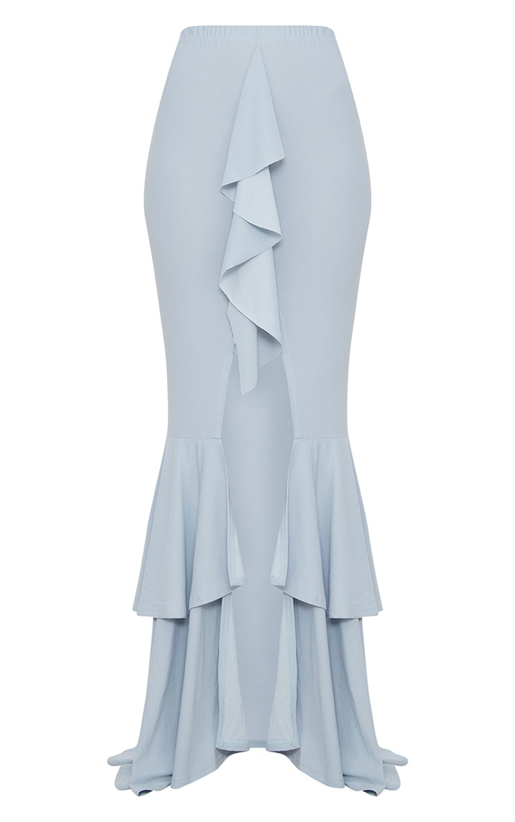 Pale Blue Frill Occasion Skirt 3