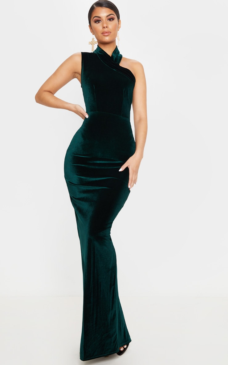 Emerald Asymmetric Dress