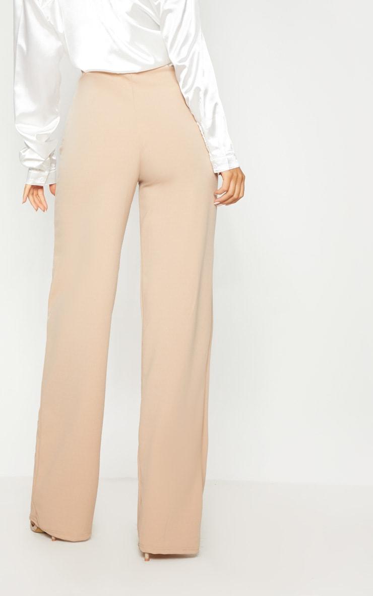 Stone Button Detail Wide Leg Trouser 4