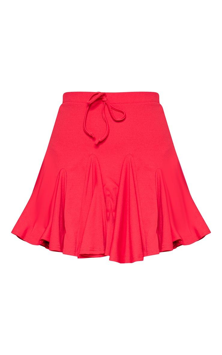 Red Full Hem Mini Skirt 3