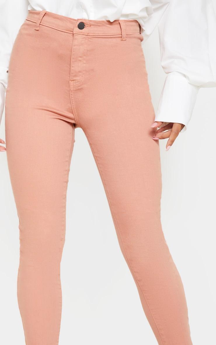 Dark Rose Skinny Disco Jeans 5