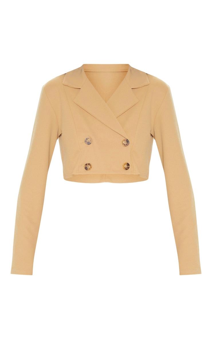 Stone Cropped Suit Blazer  3