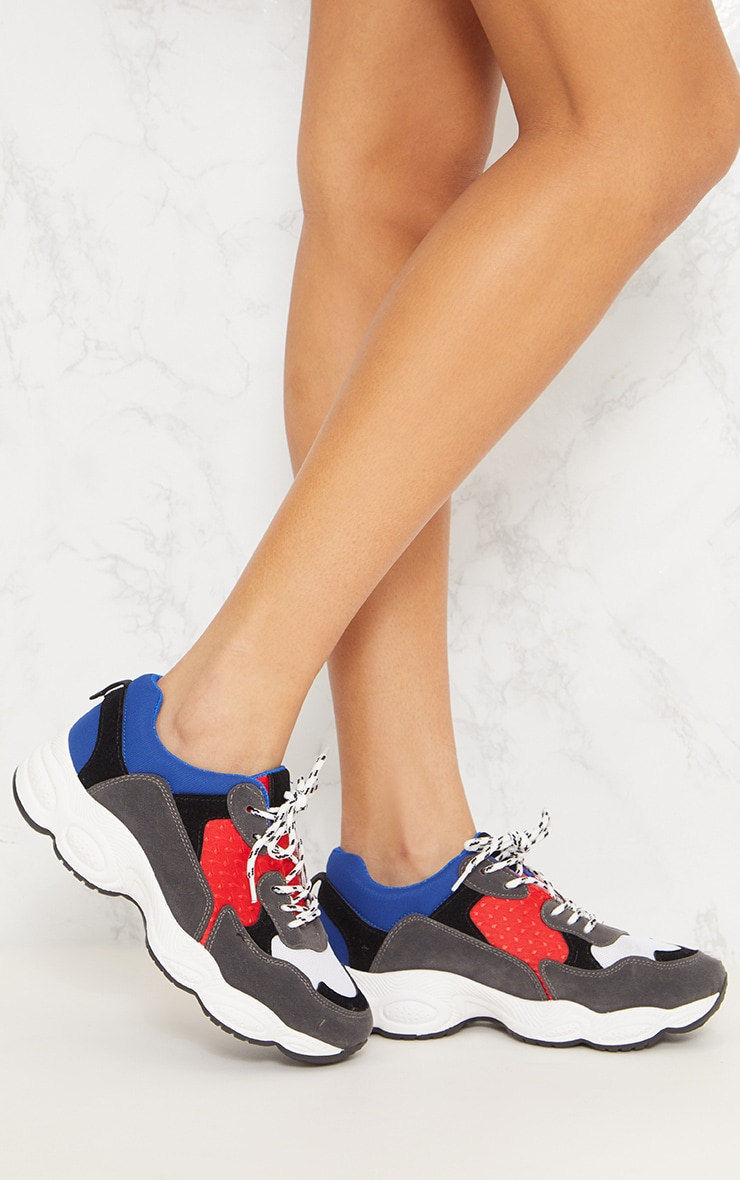 Blue Chunky Trainers 1