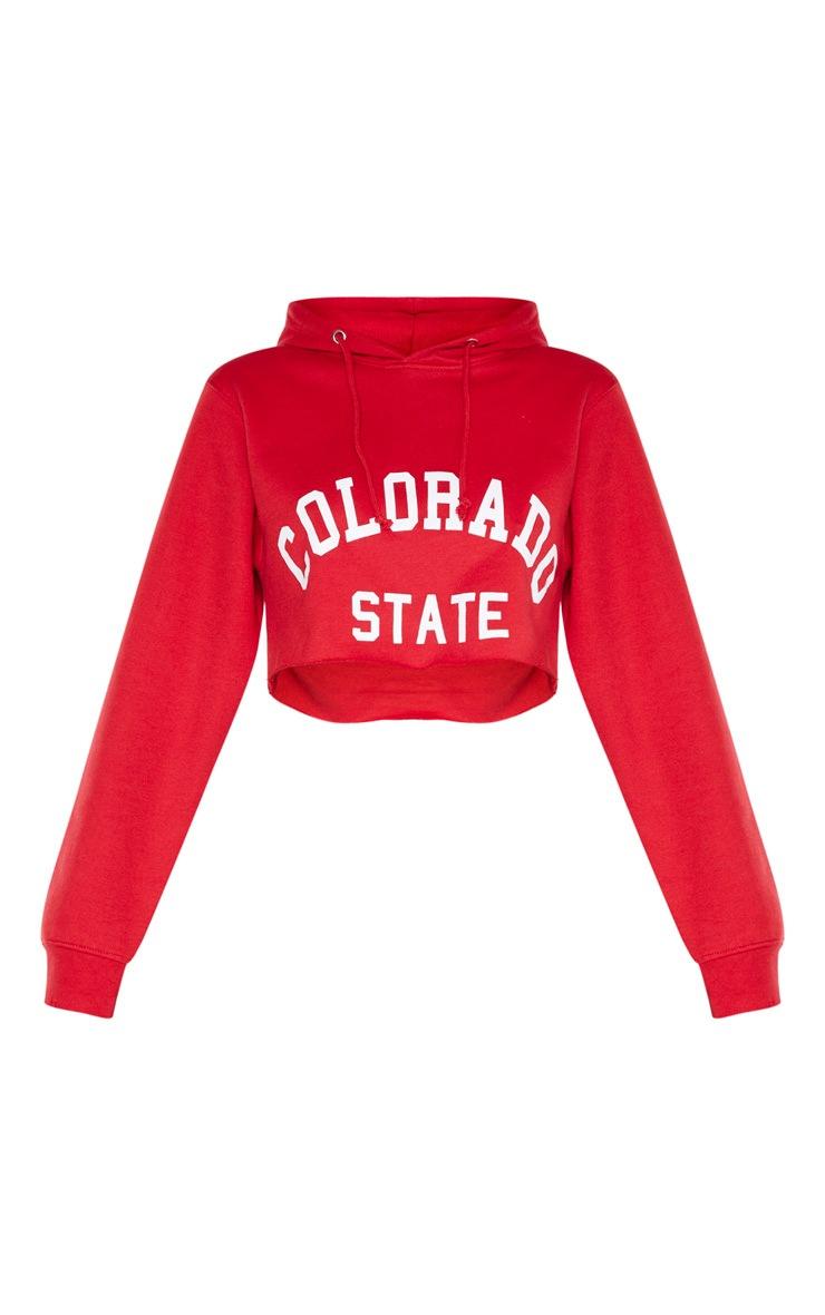 Scarlet Slogan Colorado Crop Hoodie 3
