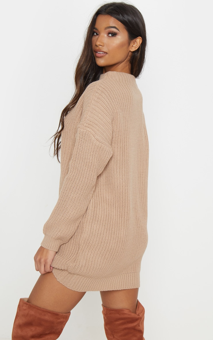 Iffy Stone Oversized Cable Knit Dress 2