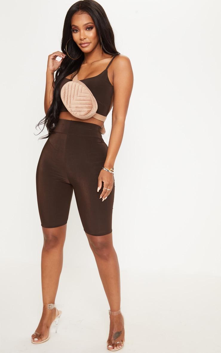Shape - Short legging moulant marron chocolat 5