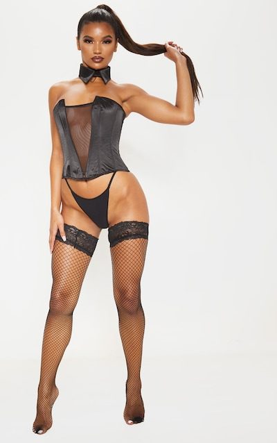 Black Wide Fishnet Stockings