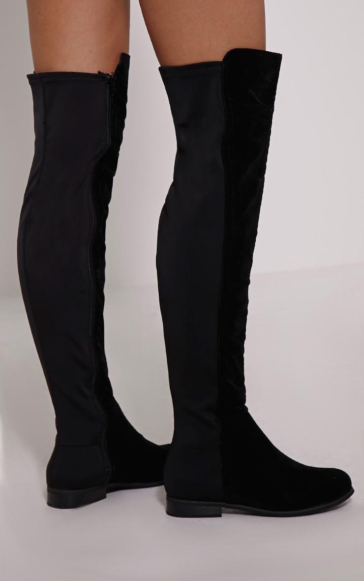 Finley bottes d'équitation noires imitation daim 2