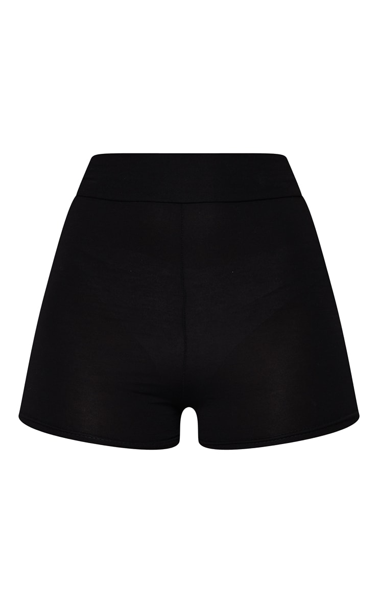 Black Basic High Waisted Hot Pants 6