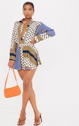 Multi Chain Print High Waist Floaty Shorts 1