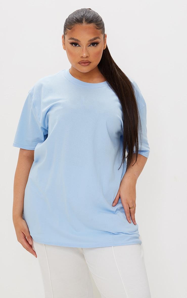 Plus Ultimate Light Blue Oversized T Shirt 3