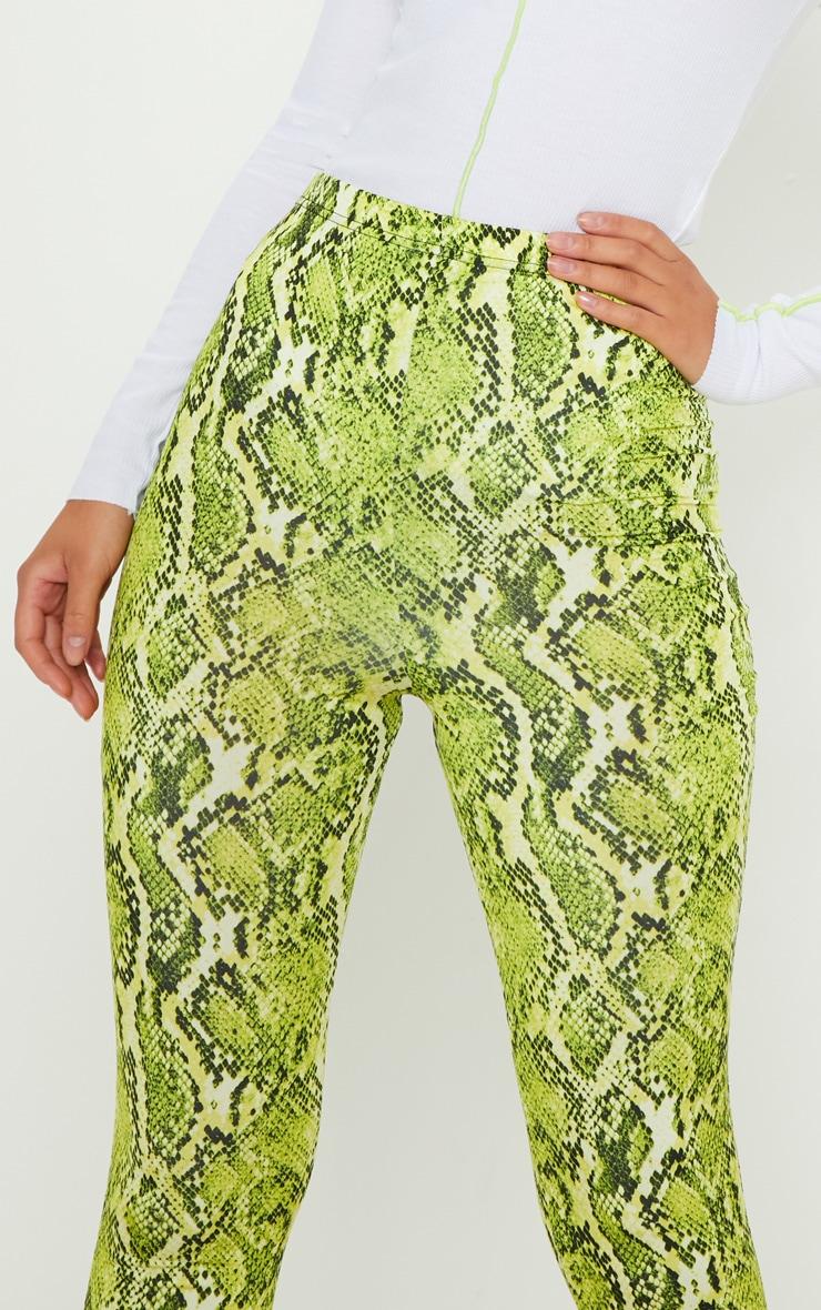 Lime Neon Snake Print Soft Touch Legging 5