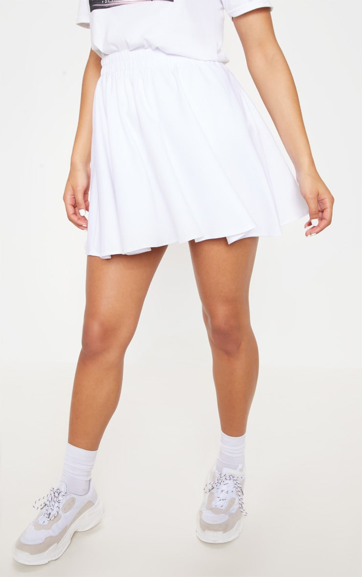 White Floaty Mini Skirt 2