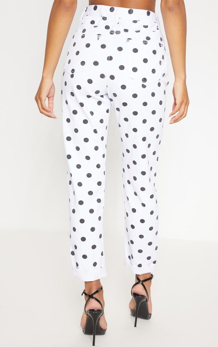 Mono Spot Print Straight Leg Jeans  4