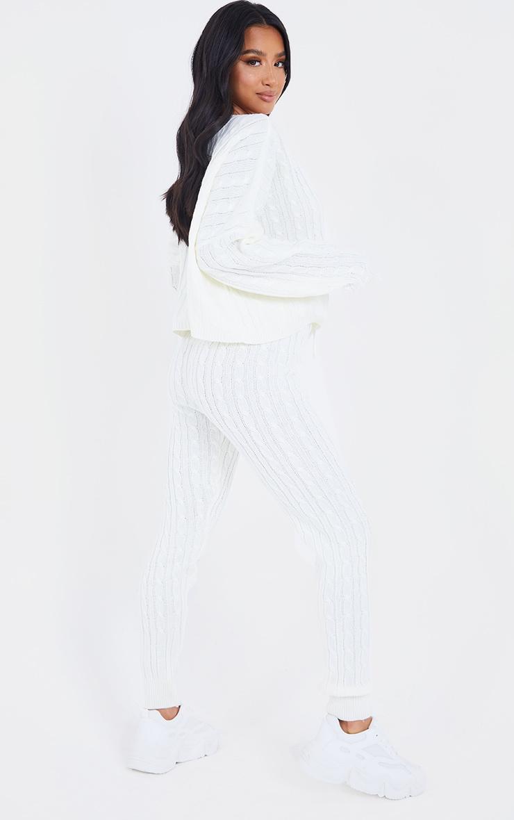 Cream Cable Knit Jumper & Legging Set 2