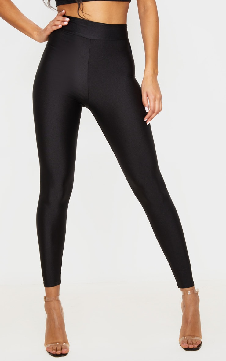 Black Disco High Waisted Leggings 2
