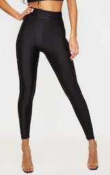 Black Disco High Waisted Leggings 2