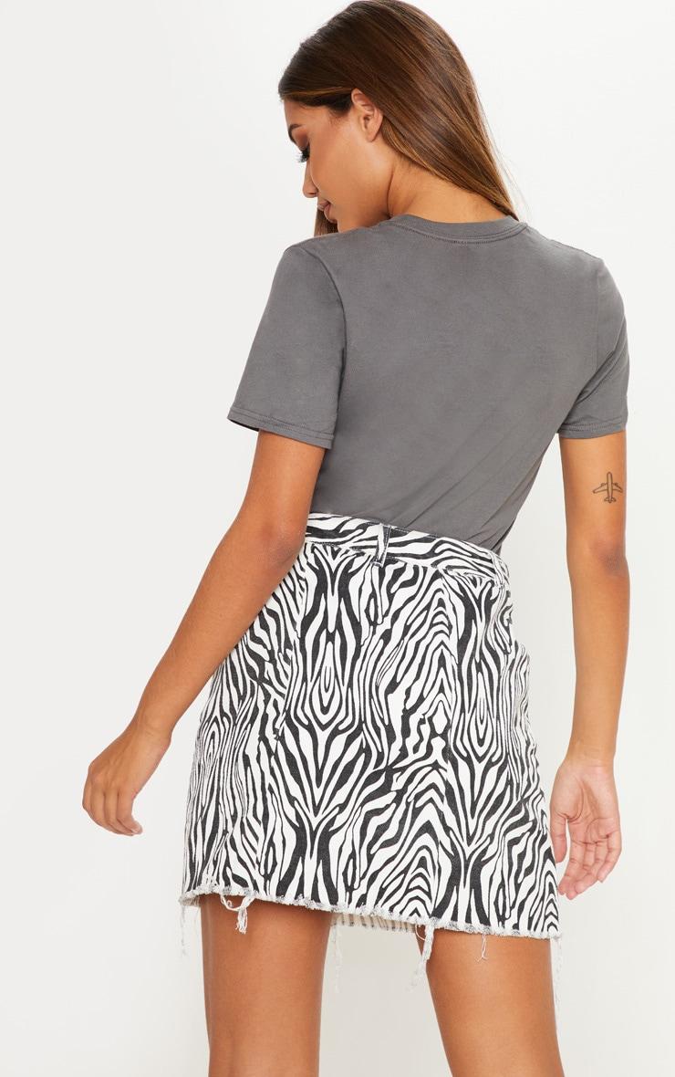 Charcoal Slogan Death Row T Shirt 2