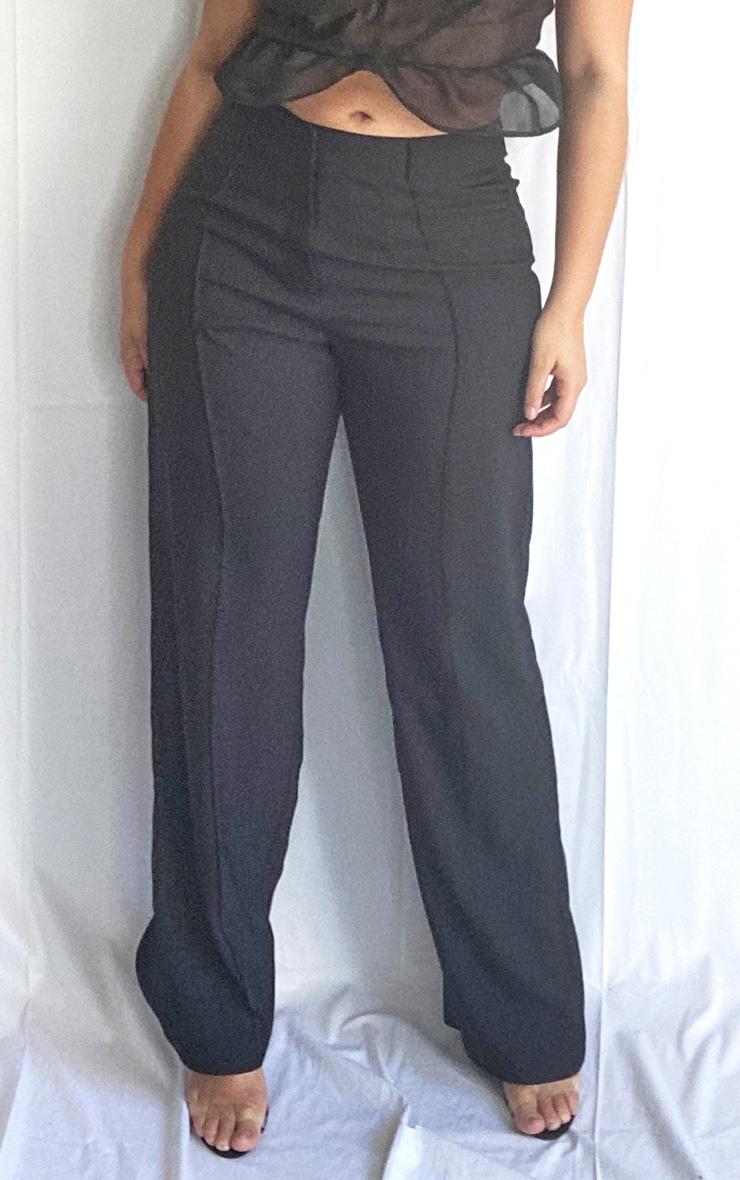 Plus Anala Black High Waisted Straight Leg Pants 2