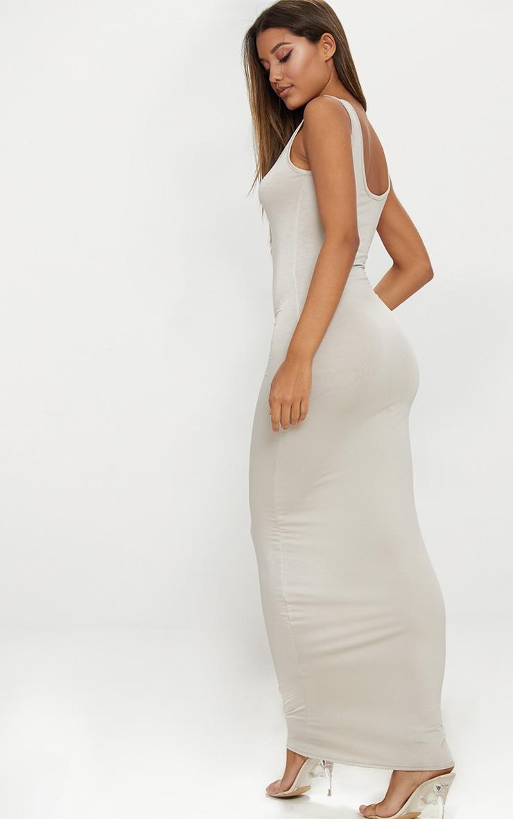 Stone Basic Scoop Neck Maxi Dress 2