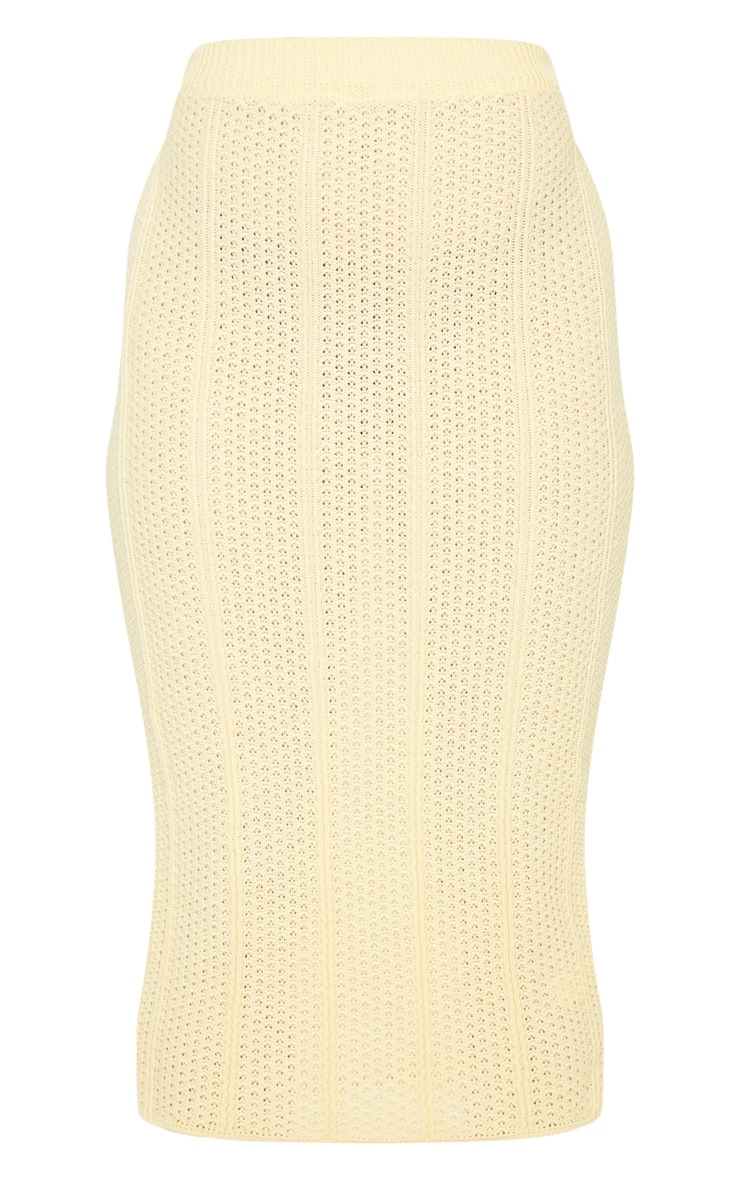 Petite Lemon Pearl Knit Midi Skirt 5