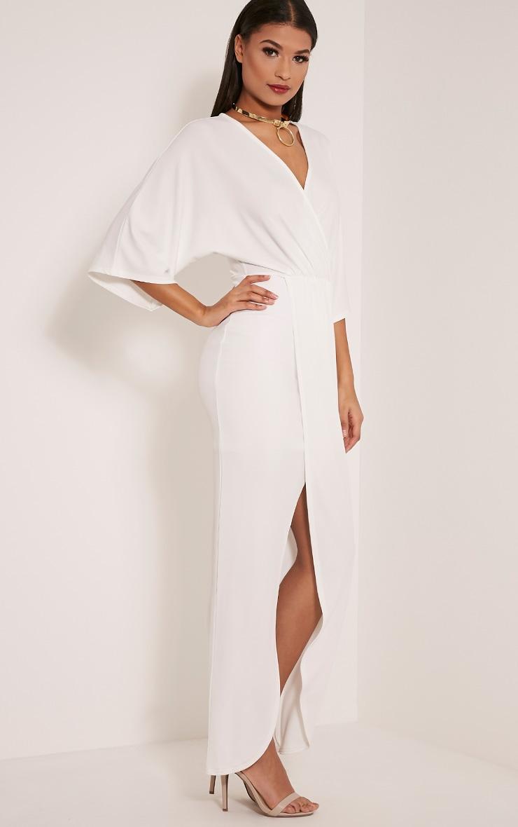 Archer Cream Cape Maxi Dress 4