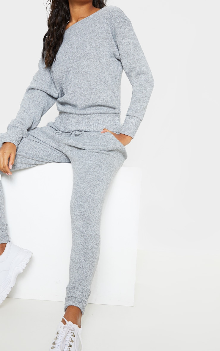 Auriel Grey Jogger Jumper Knitted Lounge Set 5