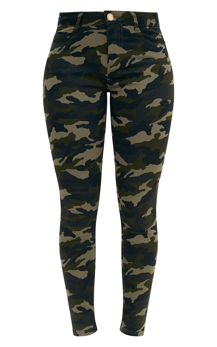 Khaki Camouflage Skinny Jeans 3