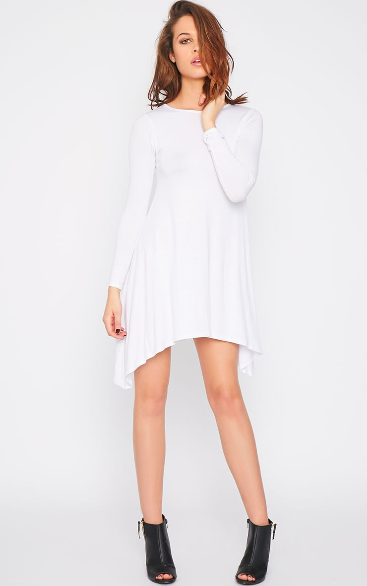 Basic White Swing Dress 4