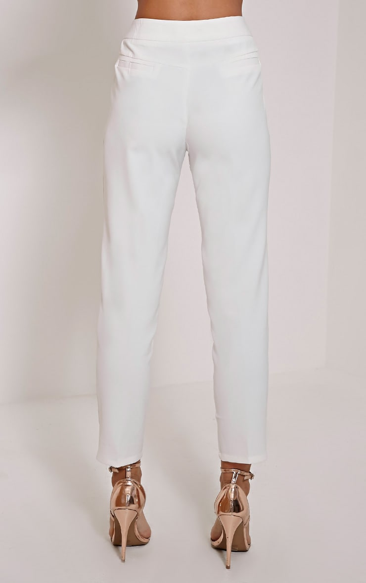 Remy Cream Cigarette Trousers 3