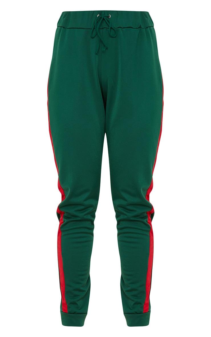Green Scuba Contrast Stripe Joggers  3