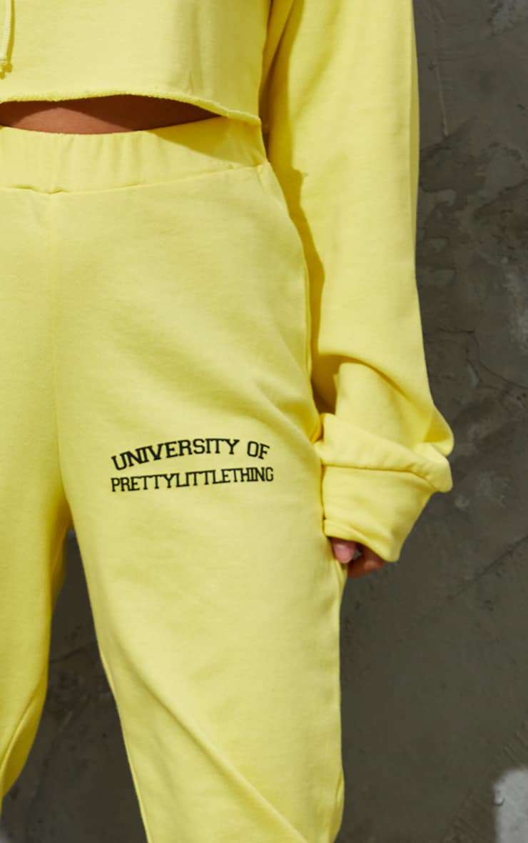 PRETTYLITTLETHING Petite Yellow Joggers 4