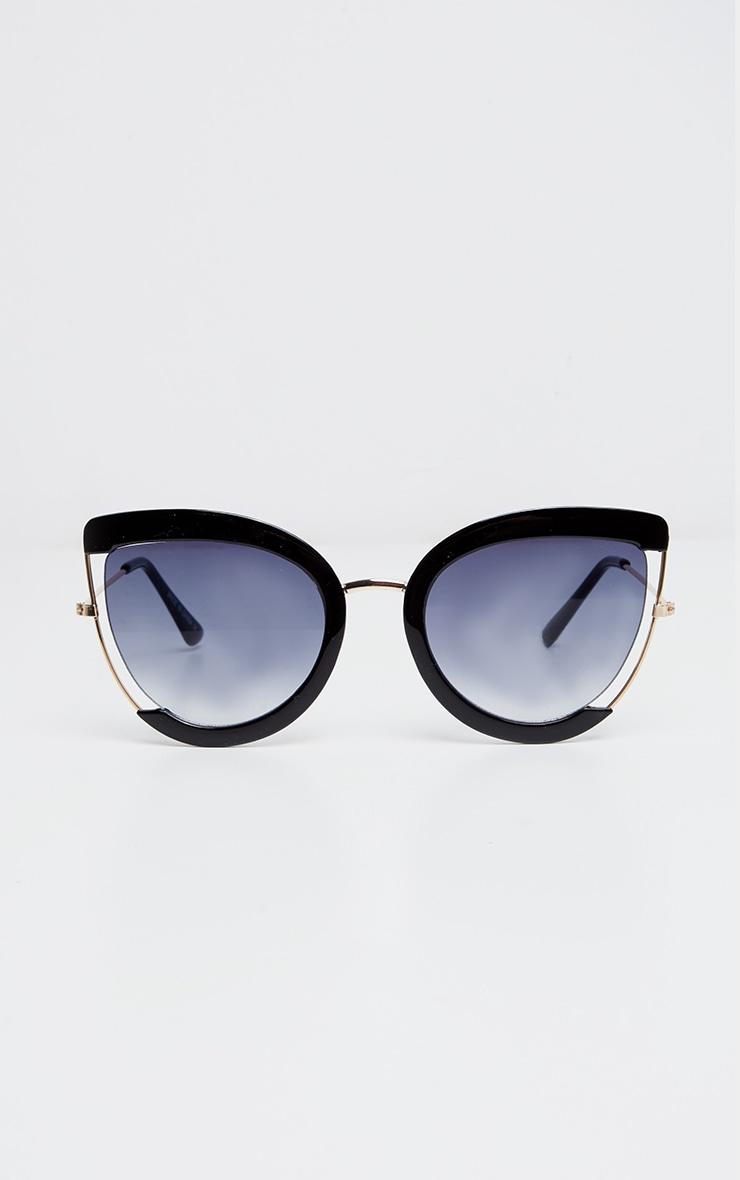 Black Oversized Cut Out Sunglasses 1