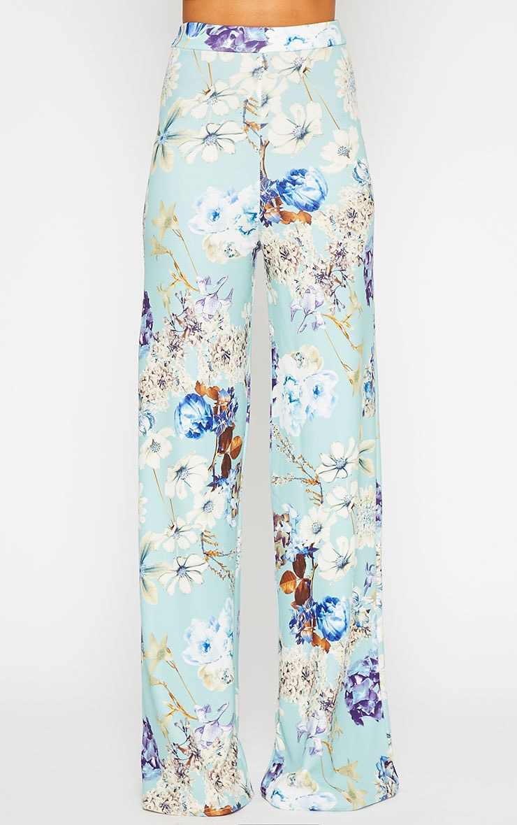 Chantal Floral Print Flare Trousers 2