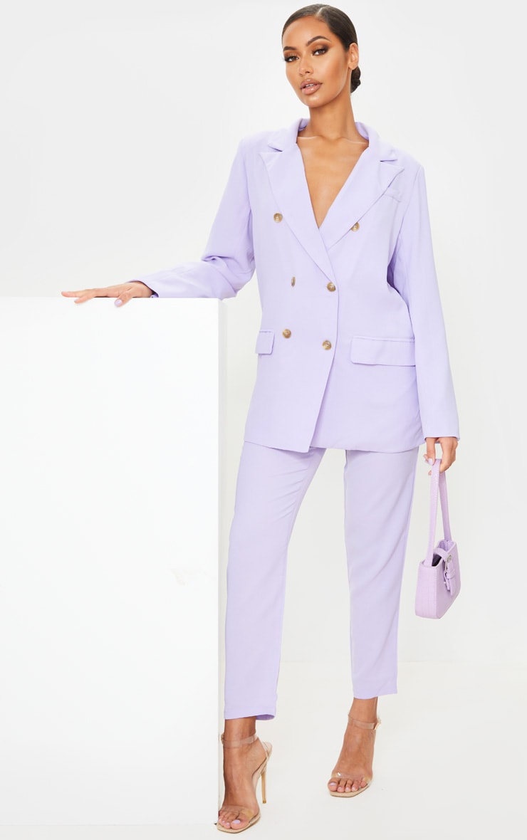 Lilac Tailored Woven Blazer 3