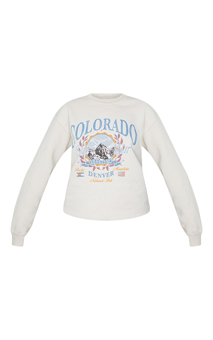 Fawn Colorado Slogan Sweater 5