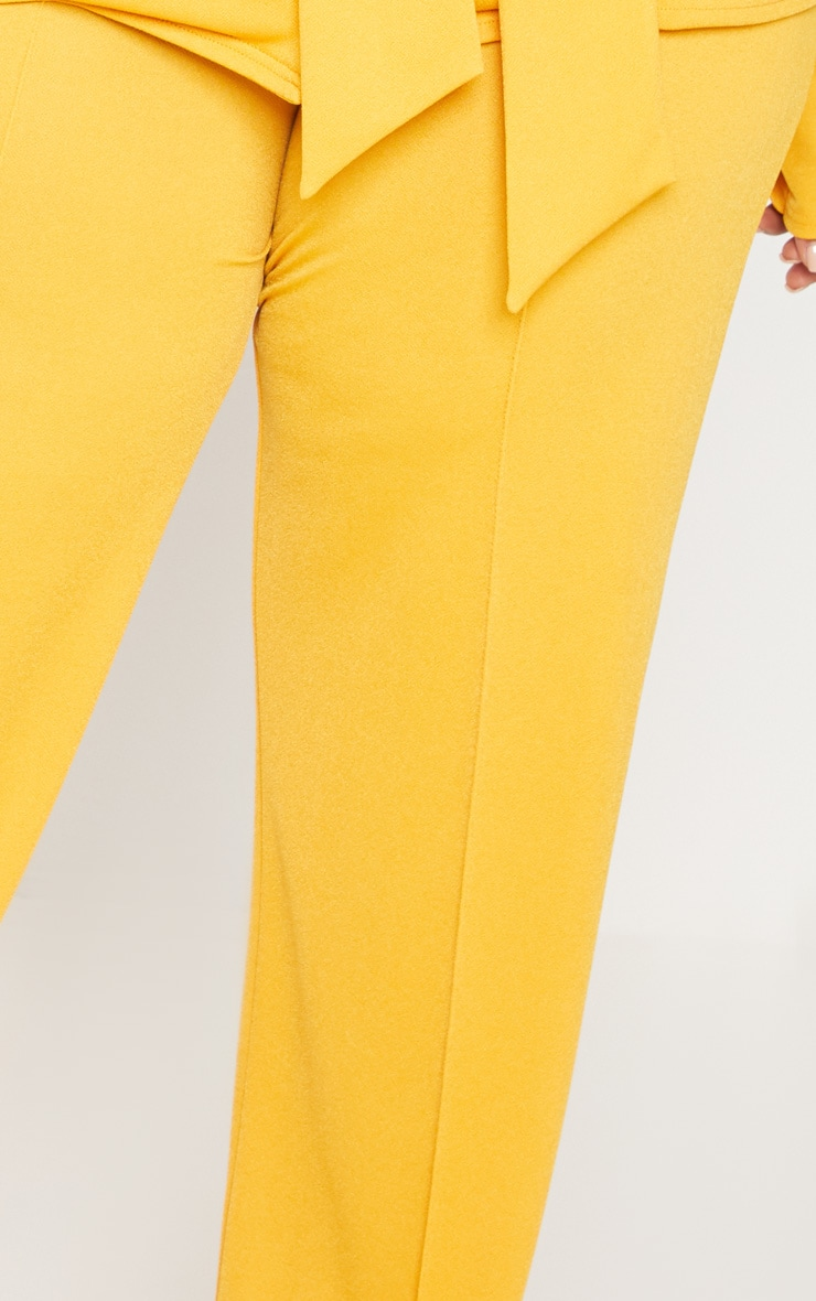 Plus Yellow Wide Leg Trousers 5