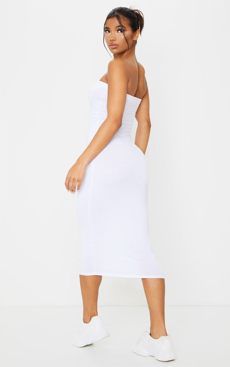 White Bandeau Maxi Dress 2